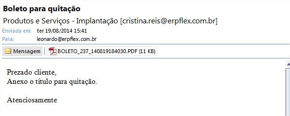 E-mail boleto