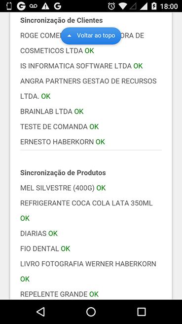 Passo 2 - Cliente e Produtos Sincronizados