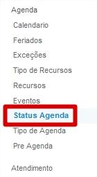 Menu Status Agenda