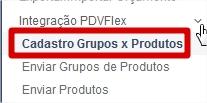 menu grupo e produtos